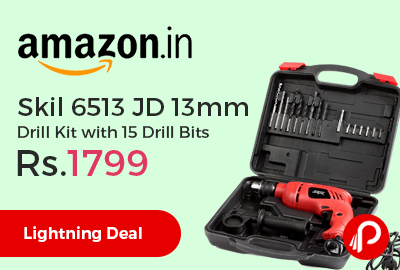 Skil 6513 JD 13mm Drill Kit with 15 Drill Bits