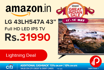 "LG 43LH547A 43"" Full HD LED IPS TV at Rs.31990 Only - Amazon"