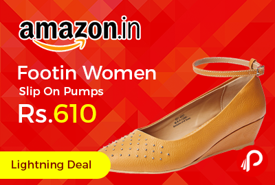 Footin Women Slip On Pumps at Rs.610 Only - Amazon