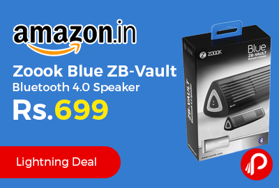 Zoook Blue ZB-Vault Bluetooth 4.0 Speaker