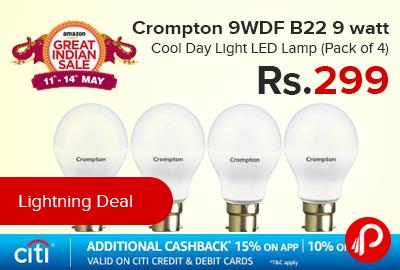 Crompton 9WDF B22 9 watt Cool Day Light LED Lamp