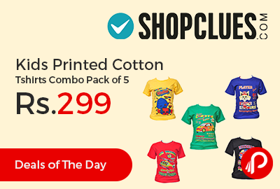 Kids Printed Cotton Tshirts Combo