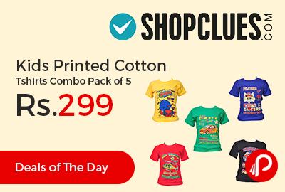 Kids Printed Cotton Tshirts Combo