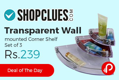 Transparent Wall mounted Corner Shelf