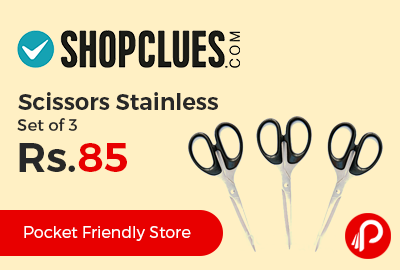 Scissors Stainless Set of 3 at Rs.85 Only - Shopclues