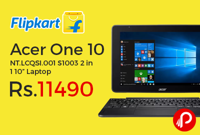 "Acer One 10 NT.LCQSI.001 S1003 2 in 1 10"" Laptop"