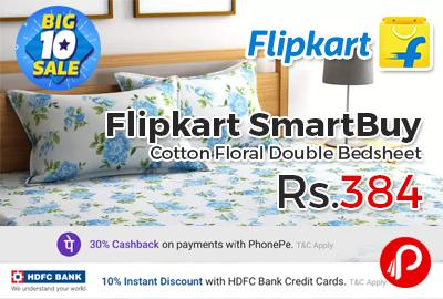 Flipkart SmartBuy Cotton Floral Double Bedsheet