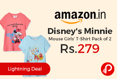 Disney's Minnie Mouse Girls' T-Shirt Pack of 2