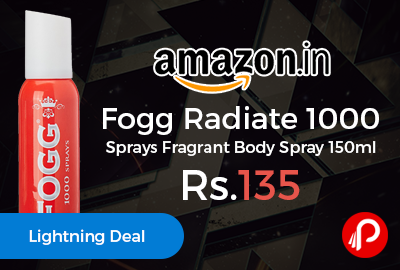 Fogg Radiate 1000 Sprays Fragrant Body Spray 150ml