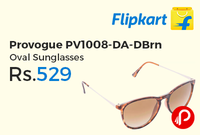 Provogue PV1008-DA-DBrn Oval Sunglasses
