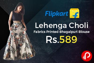 Lehenga Choli Fabrics Printed