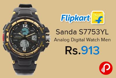 Sanda S7753YL Analog Digital Watch Men
