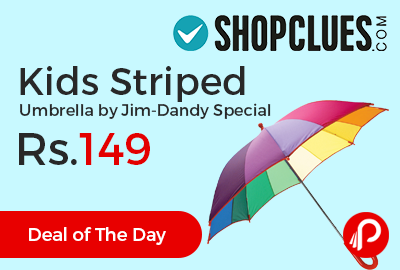Kids Striped Umbrella by Jim-Dandy Special at Rs.149 Only - Shopclues