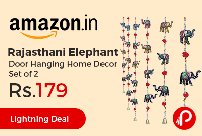 Rajasthani Elephant Door Hanging Home Decor Set of 2