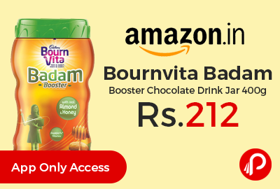 Bournvita Badam Booster Chocolate Drink Jar 400g