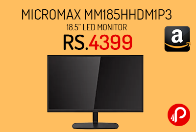 "Micromax MM185HHDM1P3 18.5"" LED Monitor"