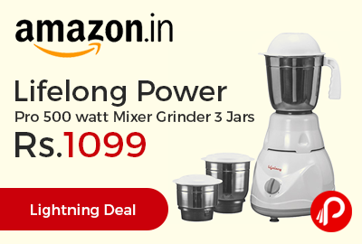 Lifelong Power Pro 500 watt Mixer Grinder 3 Jars