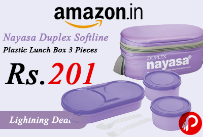 Nayasa Duplex Softline Plastic Lunch Box 3 Pieces