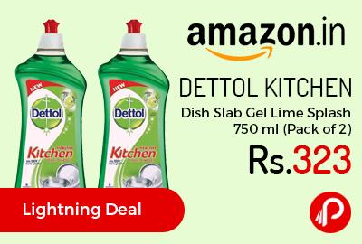 Dettol Kitchen Dish Slab Gel Lime Splash 750 ml