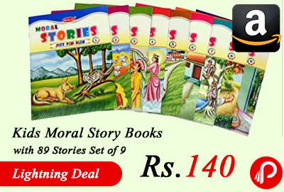 Kids Moral Story Books with 89 Stories Set of 9 just at Rs.140 Only - Amazon