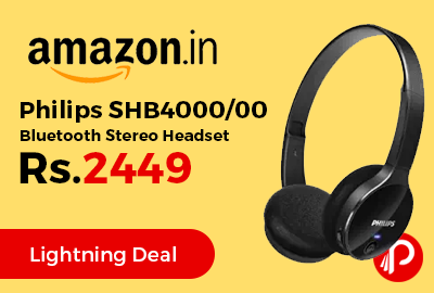 Philips SHB4000/00 Bluetooth Stereo Headset at Rs.2449 Only - Amazon