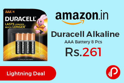 Duracell Alkaline AAA Battery 8 Pcs