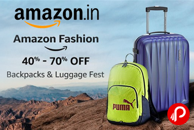 Backpack & Luggage Fest 40% - 70% off - Amazon