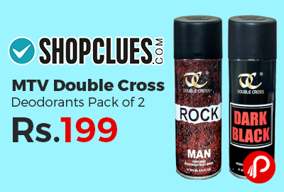 MTV Double Cross Deodorants Pack of 2 at Rs.199 Only - Shopclues