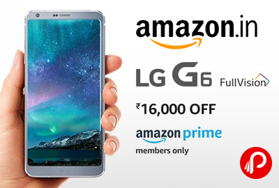 LG G6 FullVision Mobile Flat Rs.16000 Off @ Rs.38990 - Amazon