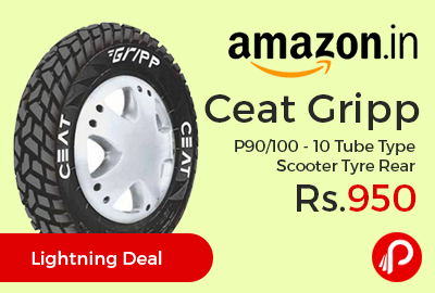 Ceat Gripp P90/100 - 10 Tube Type Scooter Tyre Rear at Rs.950 Only - Amazon