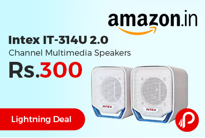 Intex IT-314U 2.0 Channel Multimedia Speakers