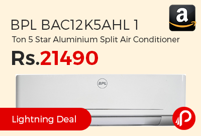 BPL BAC12K5AHL 1 Ton 5 Star Aluminium Split Air Conditioner
