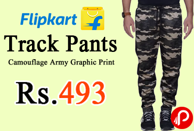 Track Pants Camouflage Army Graphic Print