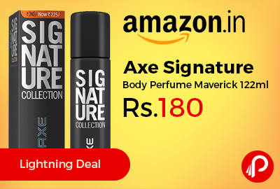 Axe Signature Body Perfume Maverick 122ml at Rs.180 Only – Amazon