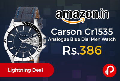 Carson Cr1535 Analogue Blue Dial Men Watch