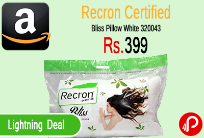 Recron Certified Bliss Pillow White 320043