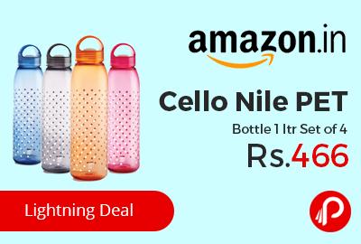Cello Nile PET Bottle 1 ltr Set of 4