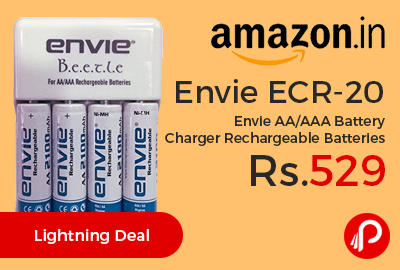 Envie ECR-20 Envie AA/AAA Battery Charger Rechargeable Batteries