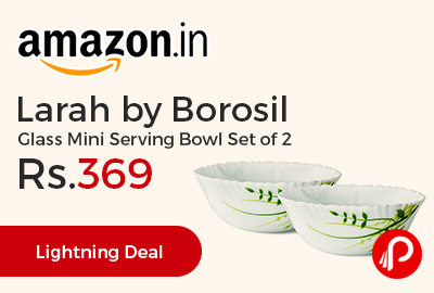 Larah by Borosil Glass Mini Serving Bowl Set of 2