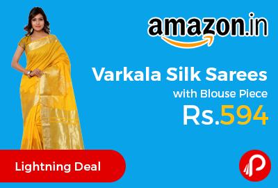 Varkala Silk Sarees with Blouse Piece