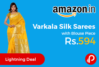 Varkala Silk Sarees with Blouse Piece