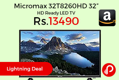 "Micromax 32T8260HD 32"" HD Ready LED TV at Rs.13490 Only - Amazon"