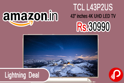 "TCL L43P2US 43"" inches 4K UHD LED TV"