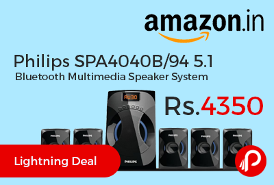Philips SPA4040B/94 5.1 Bluetooth Multimedia Speaker System