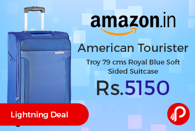 American Tourister Troy 79 cms Royal Blue Soft Sided Suitcase
