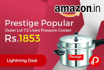 Prestige Popular Outer Lid 7.5 Liters Pressure Cooker at Rs.1853 Only - Amazon