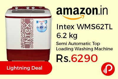 Intex WMS62TL 6.2 kg Semi Automatic Top Loading Washing Machine @ Rs.6290 – Amazon
