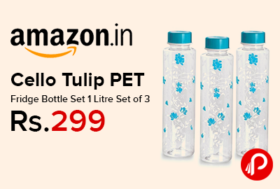 Cello Tulip PET Fridge Bottle