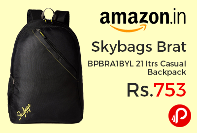 Skybags Brat BPBRA1BYL 21 ltrs Casual Backpack at Rs.753 Only - Amazon
