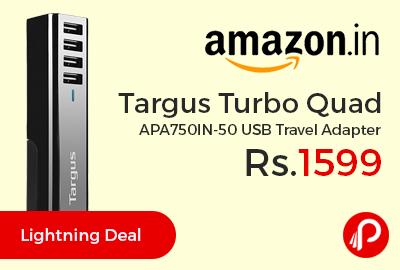 Targus Turbo Quad APA750IN-50 USB Travel Adapter